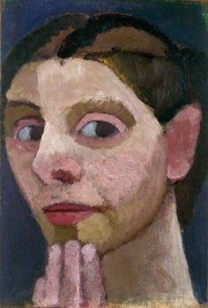 Paula Modersohn-Becker (German German Expressionist, Self-portrait with Hand on Chin, Paula Modersohn Becker, George Grosz, L'art Du Portrait, Female Painters, Art Japonais, Museum Of Modern Art, Female Art, Painting & Drawing, Illustration