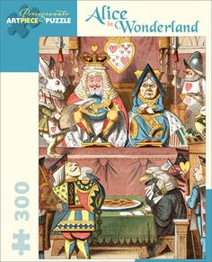 """Alice in Wonderland Jigsaw Puzzle: Alice in Wonderland Jigsaw Puzzle The King and Queen inspect the tarts in this puzzle illustration from the frontispiece for The Nursery """"Alice,""""a shortened version of Lewis Carroll's classic children's story. Huntington Shop"""