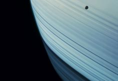 Mimas Transits Saturn's Ring Shadows, Cassini, Jan. 18, 2005, 2012.  Courtesy of Michael Benson / Hasted Kraeutler gallery,NYC. NASA/JPL-Caltech/Michael Benson/Kinetikon Pictures. (c) All Rights Reserved.