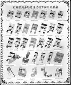 32pcs Pieds-de-biche multifonctionnel pour Machine à coudre domistique…