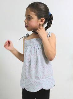 The Petal Top - 2T-6T PDF pattern and tutorial. Lovely, sweet & easy