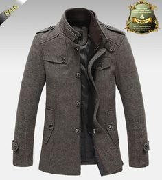 New Style Autumn and Winter Jackets For Men Splice Wool Jacket men's slim fit thickening outerwear Mens Coat Winter Overcoat $58.86 - 62.98