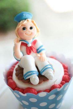 salior cake topper