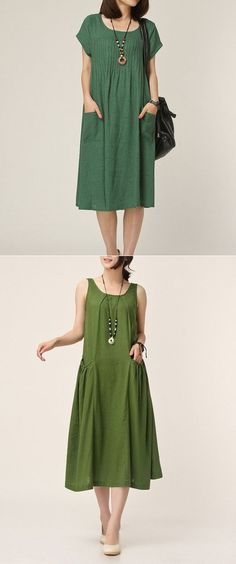 ideas dress vintage casual boho fashion for 2019 Casual Summer Dresses, Trendy Dresses, Nice Dresses, Short Dresses, Fashion Dresses, Dress Casual, Dress Summer, Summer Clothes, Green Fashion