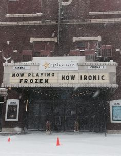 How ironic… my favorite movie theater in my neighboring town of Hillsboro, Illinois