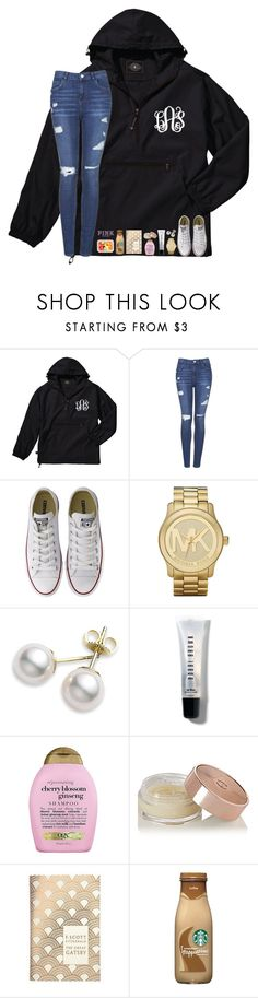 """""""ugh this is to late for me and its only 12"""" by mmprep ❤ liked on Polyvore featuring Topshop, Converse, Michael Kors, Mikimoto, Bobbi Brown Cosmetics, Organix, Charlotte Tilbury, Penguin Group and Victoria's Secret PINK"""