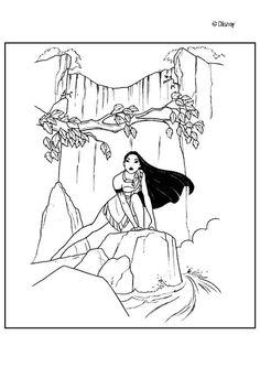 Dibujo para colorear : Princesa de la naturaleza