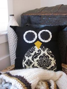 Owl Pillow from hilarycosgrove on Etsy. Saved to My Home. Shop more products from hilarycosgrove on Etsy on Wanelo. Craft Projects, Sewing Projects, Sewing Ideas, Craft Ideas, Owl Classroom, Owl Always Love You, Throw Pillows, Owl Pillows, Burlap Pillows