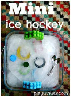 Preschool sports theme - mini ice hockey