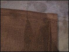 Velcro Burlap Bed Skirt