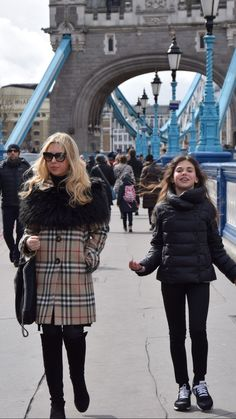 Giorgia Marin and sister photographed while walking in Tower Hill, London.