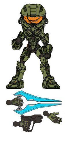 Figura Master Chief 15 cm. Halo. Versión variante. Línea Designer Series 1. J!NX  Si te gusta el videojuego Halo no te pierdas esta estupenda figura articulada de Master Chief de 15 cm, fabricada con material de vinilo de alta calidad, que viene con accesorios y es 100% oficial y licenciada.
