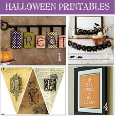 Free Halloween printables & DIY tutorials. Super cute!
