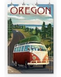 South Carolina - Camper Van and Lake (Art Prints, Wood & Metal Signs, Canvas, Tote Bag, Towel) Artist Canvas, Canvas Art, Lake Art, Free Canvas, Stock Art, Antique Maps, New Hampshire, Metal Signs, Wood And Metal