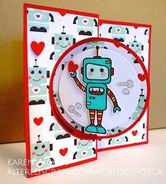 Robot Love Flip Card