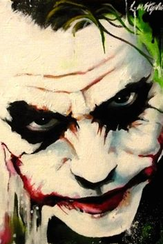 Joker abstract by sullen-skrewt on deviantART~~~~wicked Der Joker, Heath Ledger Joker, Joker Painting, Oil Painting Abstract, Joker Face Paint, Painting Canvas, Joker Batman, Joker Art, Comic Books Art