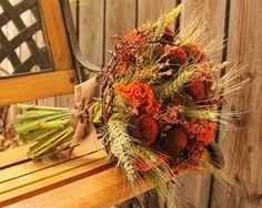 Weizen Herbst Brautstrauß Ideen