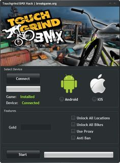Touchgrind BMX Hack Tool Unlimited Gold Cheat Android