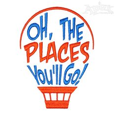 """Dr Suess Oh the Places You'll Go - 3"""" & 4"""""""