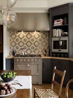 Jute interior Design - kitchens - gray cabinets, gray kitchen cabinets, corner cabinet, corner kitchen cabinet, kitchen corner cabinet, cook...