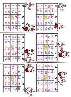 Hello kitty Bingo. This site has so many cute free Hello Kitty printables!!
