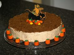 Learn how to make a recipe for Pumpkin Cheesecake. This recipe is the delicious taste of cheesecake mingled with the warm taste of pumpkin. Baked in a 10 inch spring form pan for 50 to 60 minutes. I decorated this cheesecake for a Fall party.