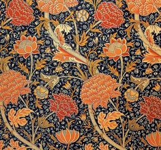 'Cray' textile design by William Morris, produced by Morris & Co in 1884 __ posted on flickr by John Hopper, for The Textile Blog