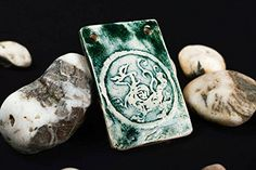 Handmade Ceramic Pendant Unusual Clay Pendant Neck Accessories Gifts For Her