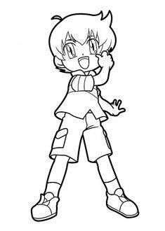kenta beyblade anime coloring pages for kids printable free