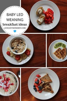 LoveJoyWonder.com - Baby Led Weaning and Toddler Montessori Breakfast Meal Ideas and Inspiration
