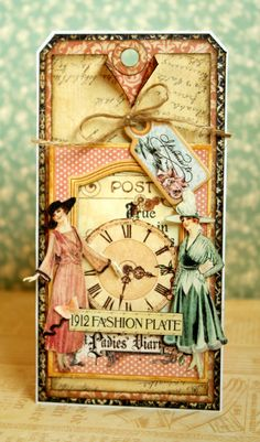 A Ladies' Diary tag by Romy Veul.  Gorgeous!