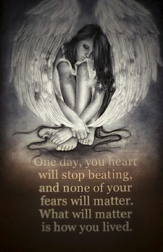 One day you heart will stop beating. What will really matter is not you fear but how you lived. Fallen Angel Quotes, Angels And Demons Quotes, Fallen Angel Tattoo, Dark Love Quotes, Angel Drawing, Angel Tattoo Designs, Ange Demon, Angel Pictures, Angel Art