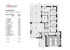 Projekt domu HomeKONCEPT-68 | HomeKONCEPT Dream House Plans, Modern House Plans, Modern House Design, Modern Bungalow Exterior, Village House Design, Architectural House Plans, Single Story Homes, Small Modern Home, House 2