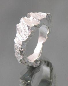 Janet Miller's rings which look like little silver glaciers. #SterlingSilverBeautiful