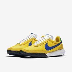 Para-hombres-Nike-Roshe-Waffle-Racer-casi-como-nuevo-Amarillo-Verde-Blanco-Uk-Size-7-5-845089-704