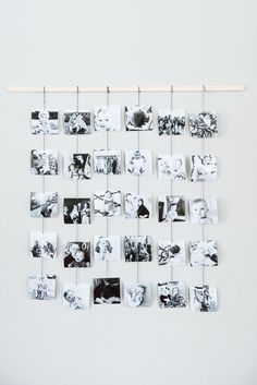 """DIY Family Photo Wall Hanging Looking for homemade Christmas gift ideas? This beautiful family photo wall hanging is a perfect homemade gift for grandparents, siblings and close friends!"""", """"pinner"""": {""""username"""": """"cydconverse"""", """"first_name"""": """"Cyd Converse Creative Wall Decor, Unique Wall Decor, Creative Walls, Homemade Wall Decorations, Homemade Ornaments, Homemade Gifts, Diy Gifts, Craft Gifts, Homemade Wall Art"""