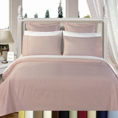 Lilac Cotton Duvet Covers, 450 Thread Count Soft Solid Duvet Cover Set in Home & Garden, Bedding, Duvet Covers & Sets 100 Cotton Duvet Covers, Cotton Bedding Sets, Comforter Sets, Duvet Cover Sets, Full Size Mattress, Air Mattress, Walmart Decor, Egyptian Cotton Bedding, Stylish Beds