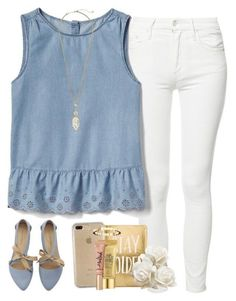 featuring Mother, Gap, Speck, Kendra Scott, Peter Thomas Roth and Chaumet Preppy Summer Outfits, Spring Outfits, Casual Outfits, Cute Outfits, Work Outfits, Look Fashion, Fashion Outfits, Womens Fashion, Preppy Fashion