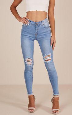 188304b58 Showpo Renee skinny jeans in mid wash - 12 (L) Jeans