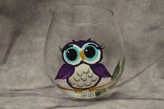 Owl Wine Glass @VinoPlease #VinoPlease