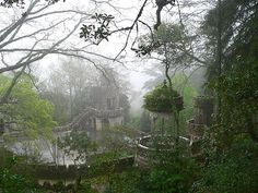 """relique-memoirs: """" harmonious-dissonance: """" Travel Wish List #3: Quinta da Regaleira, Portugal « peekmoon on We Heart It. http://weheartit.com/entry/23872064 """" I've been to Sintra, Portugal. & to the..."""