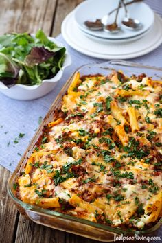 A freezer friendly and easy to make dinner for all year round: Baked Ziti #ziti #pasta #groundbeef #recipe