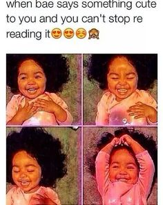 Don't like the word bae...at all!!... but  I love when this happens