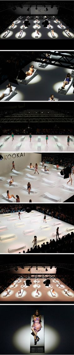 Kookai Fashion Show set runway fashion week