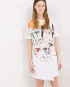 New clothes and accessories updated weekly at ZARA online. Stay in style with seasonal trends. T Shirt Designs, Custom Clothes, Diy Clothes, Painted Clothes, Diy Fashion, Fashion Design, Zara Women, Sheila, Fashion Prints