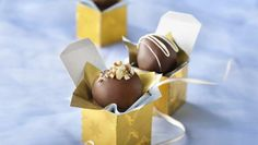 Experiment with different liqueurs when making delectable chocolate truffles.