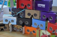 Contact us for custom printed Google cardboard VR headsets (min. order 100) - how cool?! :D