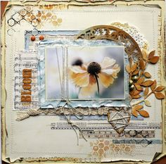 Heather Jacob for Imaginarium Designs Album Scrapbook, Scrapbook Page Layouts, Scrapbook Paper, Scrapbook Photos, Scrapbook Sketches, Mixed Media Scrapbooking, Scrapbooking Ideas, Smash Book Pages, Collaborative Art