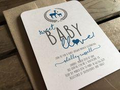 Llama Baby Shower Invitation  Sweet Baby Llove  by kandvcrafts