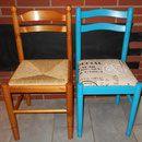Pour relooker des chaises en bois, rien de tel qu'un peu d'huile de coude et le tour est joué